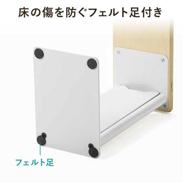 ソファ サイドテーブル デスク サイドテーブル USB充電器 収納タイプ 木目 コンパクト(即納) sanwadirect 14