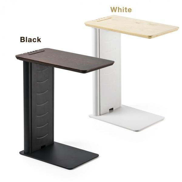 ソファ サイドテーブル デスク サイドテーブル USB充電器 収納タイプ 木目 コンパクト(即納) sanwadirect 20