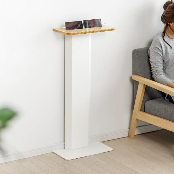充電スタンド サイドテーブル 壁寄せ ベット ソファー サイド(即納)|sanwadirect|19