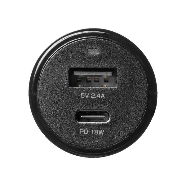 シガーソケット USB カーチャージャー 車載充電器 iPhone スマホ 2ポート 急速充電 2台同時 Power Delivery 自動車 携帯 充電 Type-C ケーブル付き(即納)|sanwadirect|18