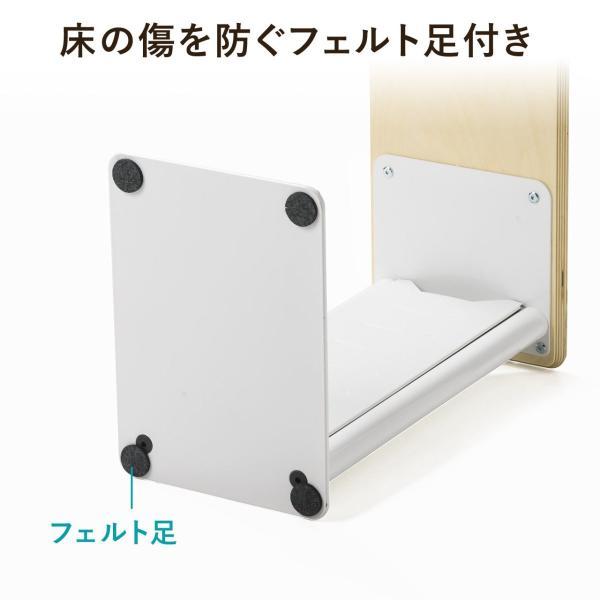 ソファサイドテーブル デスクサイドテーブル 700-AC015付属 天然木/スチール使用 コンパクト|sanwadirect|12