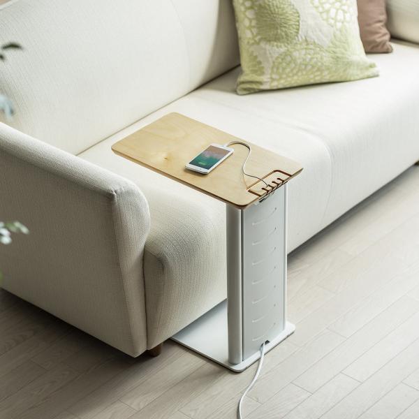 ソファサイドテーブル デスクサイドテーブル 700-AC015付属 天然木/スチール使用 コンパクト|sanwadirect|19