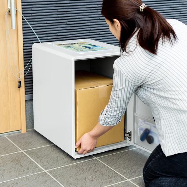 宅配ボックス 戸建て用 大容量 50リットル ネコポス便対応 カード式解錠 宅配ロッカー|sanwadirect|18