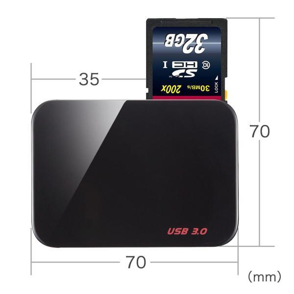 カードリーダー コンパクト CFカード microSD SDカード コンパクトフラッシュ(即納)|sanwadirect|06