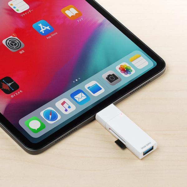 USB Type-C カードリーダー SD microSD USB3.1 ハブ Mac カードリーダー(即納)|sanwadirect|13
