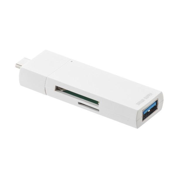 USB Type-C カードリーダー SD microSD USB3.1 ハブ Mac カードリーダー(即納)|sanwadirect|16