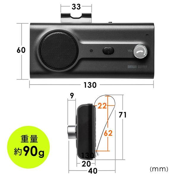 自動車用 ハンズフリー 通話 車載用品 車載ハンズフリー 長時間 通話 Bluetooth iPhone スマホ 自動車用 車中泊グッズ ブルートゥース(即納) sanwadirect 17
