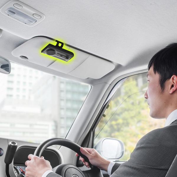 自動車用 ハンズフリー 通話 車載用品 車載ハンズフリー 長時間 通話 Bluetooth iPhone スマホ 自動車用 車中泊グッズ ブルートゥース(即納) sanwadirect 19