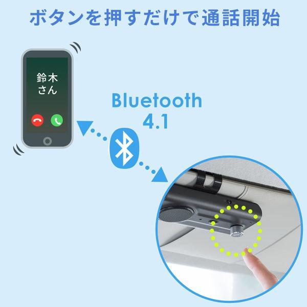自動車用 ハンズフリー 通話 車載用品 車載ハンズフリー 長時間 通話 Bluetooth iPhone スマホ 自動車用 車中泊グッズ ブルートゥース(即納) sanwadirect 04