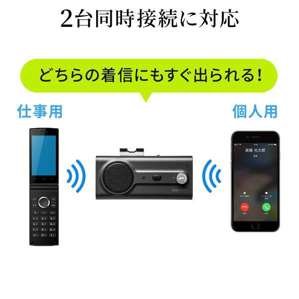 自動車用 ハンズフリー 通話 車載用品 車載ハンズフリー 長時間 通話 Bluetooth iPhone スマホ 自動車用 車中泊グッズ ブルートゥース(即納) sanwadirect 10