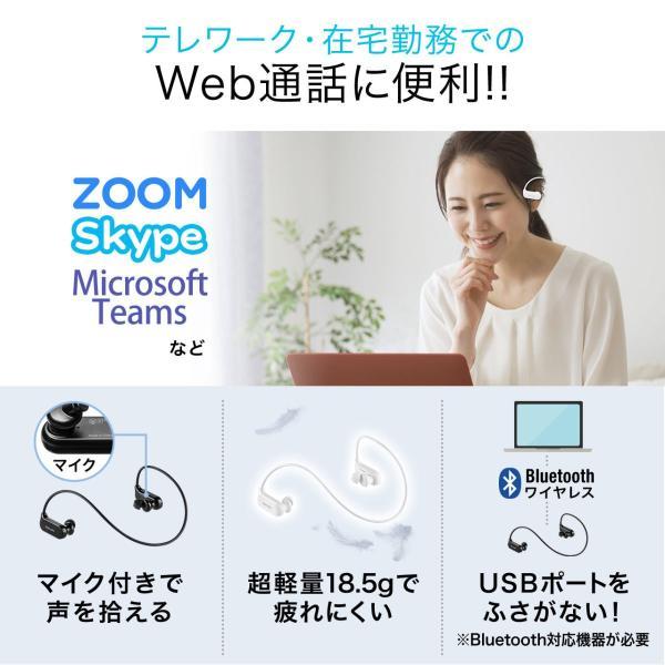 Bluetoothイヤホン ワイヤレス イヤホン Bluetooth5.0 IPX5 防水 コンパクト 軽量 スポーツ ブルートゥース(即納)|sanwadirect|03