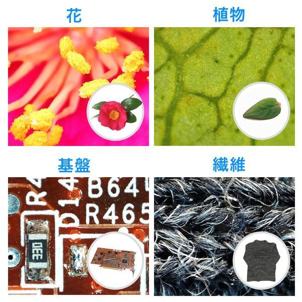 デジタル顕微鏡 マイクロスコープ 電子顕微鏡 最大220倍 光学ズーム デジタルズーム 液晶 モニター付き 持ち運び モバイル HDMI出力 小型 コンパクト(即納)|sanwadirect|03