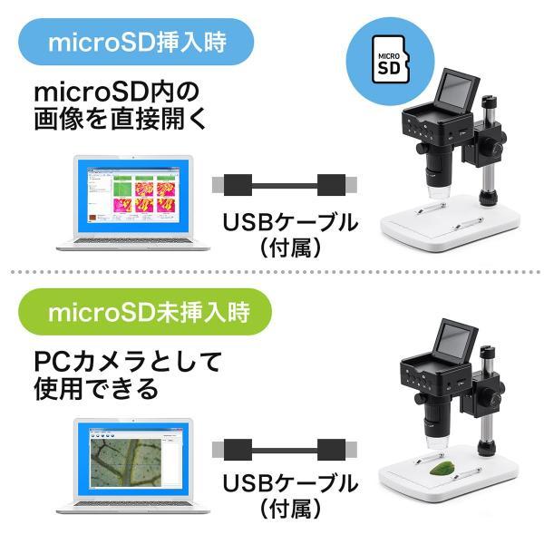 デジタル顕微鏡 マイクロスコープ 電子顕微鏡 最大220倍 光学ズーム デジタルズーム 液晶 モニター付き 持ち運び モバイル HDMI出力 小型 コンパクト(即納)|sanwadirect|07