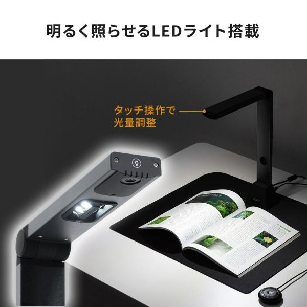 スタンドスキャナー A3 A4 ドキュメント スキャナー USB書画カメラ スタンドスキャナ A3対応 ブックスキャナー sanwadirect 11