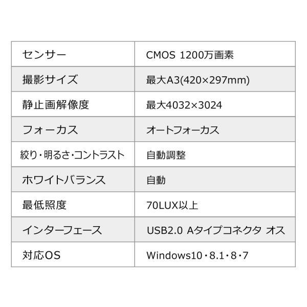 スタンドスキャナー A3 A4 ドキュメント スキャナー USB書画カメラ スタンドスキャナ A3対応 ブックスキャナー sanwadirect 18