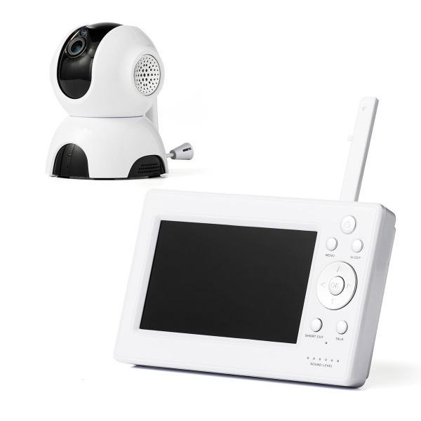 ワイヤレス カメラ モニター セット ベビー モニター ペット モニタ 防犯カメラ ベビーモニター 介護 見守りカメラ 赤ちゃん(即納)|sanwadirect|20