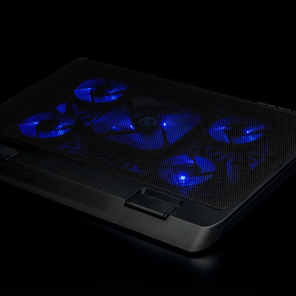 ノートパソコンクーラー 冷却台 静音 17インチ対応 5ファン USB給電 無段階風量調節 3段階角度調節|sanwadirect|12