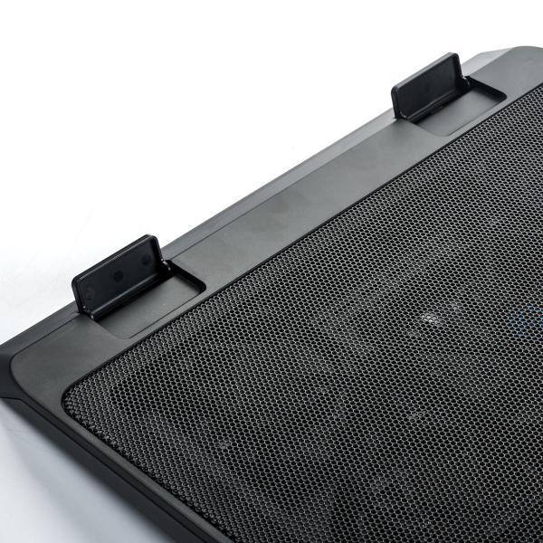 ノートパソコンクーラー 冷却台 静音 17インチ対応 5ファン USB給電 無段階風量調節 3段階角度調節|sanwadirect|13