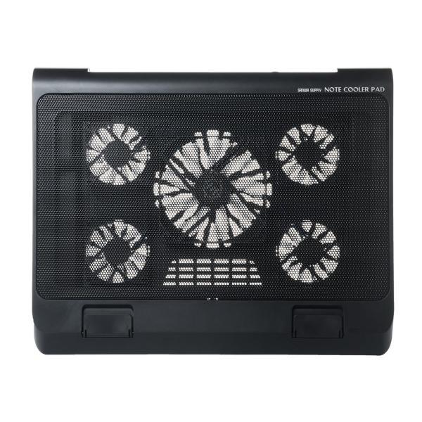 ノートパソコンクーラー 冷却台 静音 17インチ対応 5ファン USB給電 無段階風量調節 3段階角度調節|sanwadirect|18