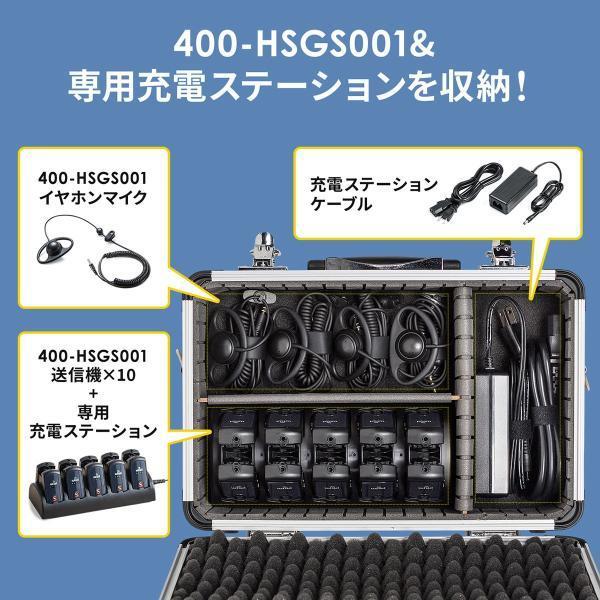 400-HSGS001用収納ケース キャリングケース 鍵付 ショルダーベルト付|sanwadirect|02