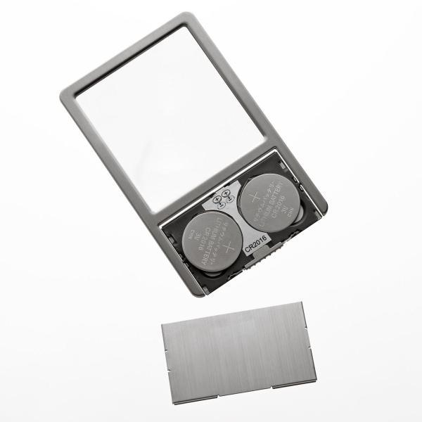 ルーペ カード 名刺型拡大鏡 LEDライト付 2.5倍 sanwadirect 08