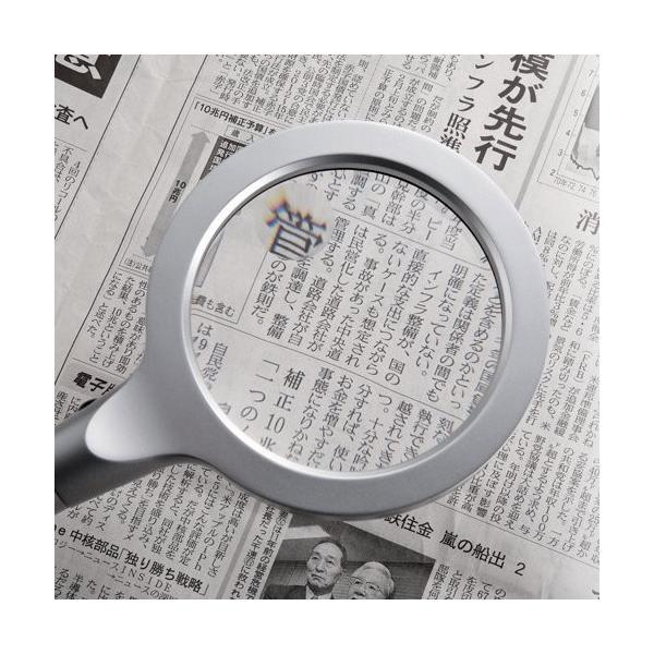 ルーペ 手持ち 拡大鏡 LEDライト付 2.4倍&4倍|sanwadirect|06