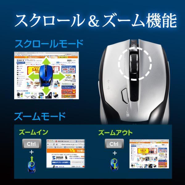ワイヤレスマウス マウス 無線 ブルーLED 5ボタン(即納)|sanwadirect|04