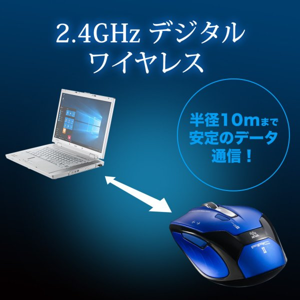 ワイヤレスマウス マウス 無線 ブルーLED 5ボタン(即納)|sanwadirect|05