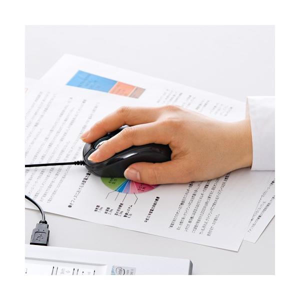 マウス 静音 有線 マウス ブルーLED PC USB 小型 有線マウス|sanwadirect|04