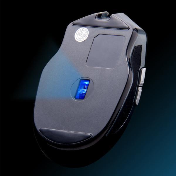 マウス 無線 ワイヤレスマウス バッテリーフリー 電池不要 5ボタン ブルーLED(即納)|sanwadirect|14