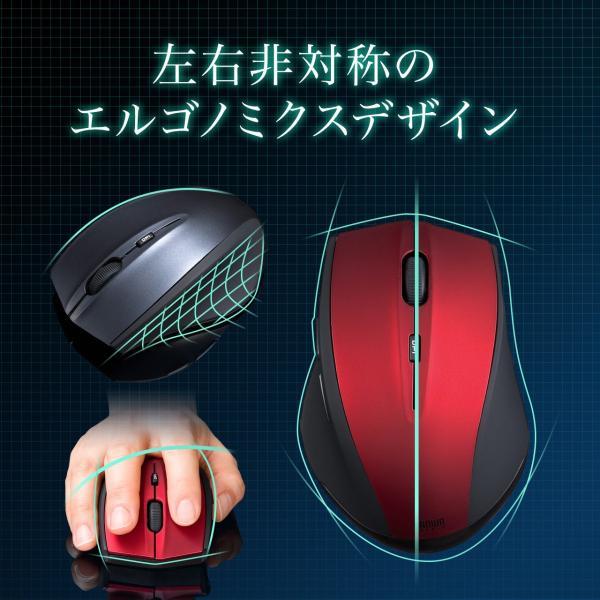 マウス ワイヤレス 無線 静音 5ボタン|sanwadirect|03