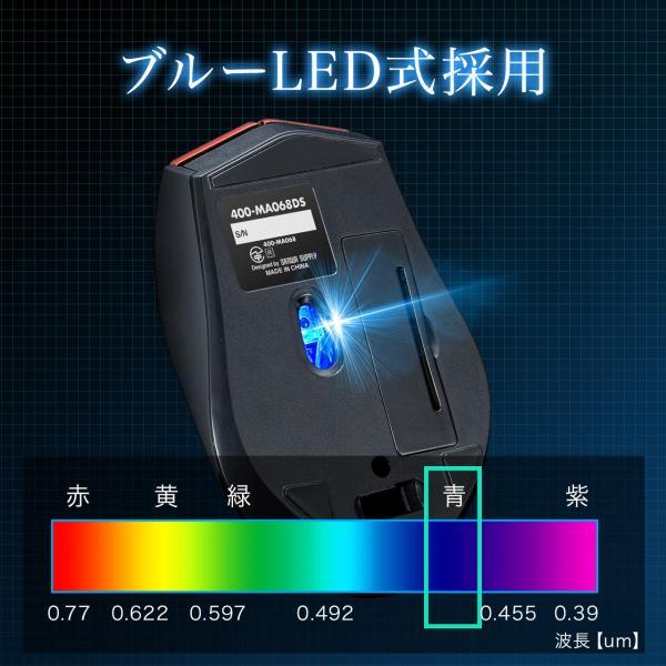 マウス ワイヤレス 無線 静音 5ボタン|sanwadirect|04