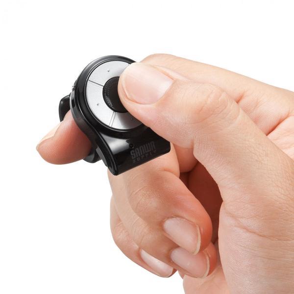 リングマウス マウス ワイヤレス 無線 指輪マウス プレゼン マウス(即納)|sanwadirect|20