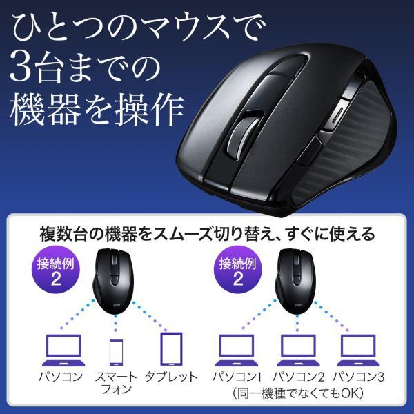 マウス ワイヤレス 無線 Bluetooth ブルートゥース(即納)|sanwadirect|02