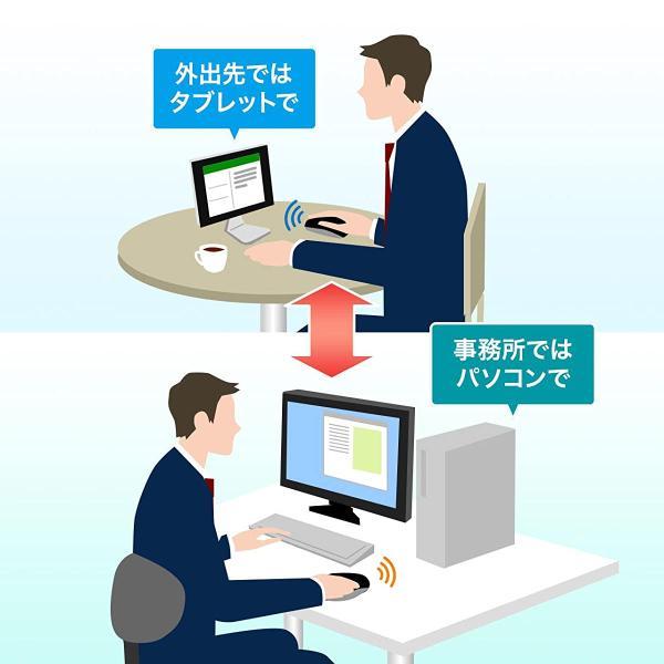 マウス ワイヤレス 無線 Bluetooth ブルートゥース(即納)|sanwadirect|03