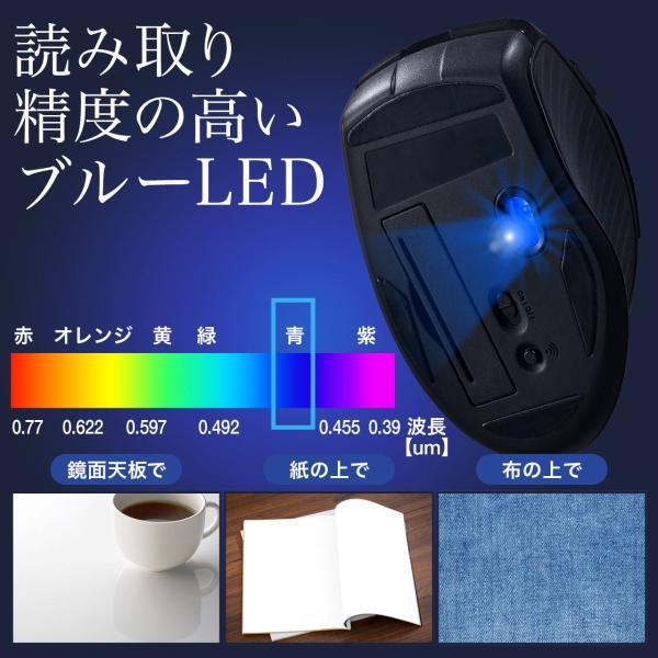 マウス ワイヤレス 無線 Bluetooth ブルートゥース(即納)|sanwadirect|09