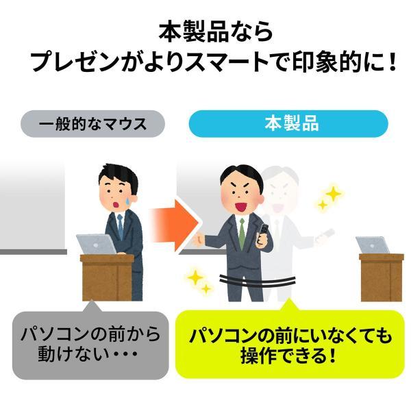 プレゼンテーションマウス ワイヤレス マウス ジャイロ センサー プレゼン(即納) sanwadirect 03