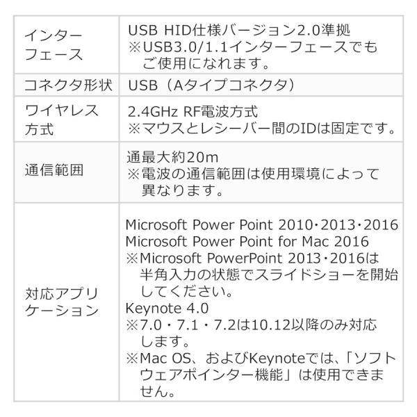 プレゼンテーションマウス ワイヤレス マウス ジャイロ センサー プレゼン(即納) sanwadirect 09