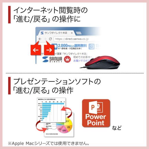 有線マウス ブルーLEDセンサー 6ボタン DPI切替 ラバーコーティング(即納) sanwadirect 06