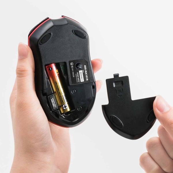ワイヤレスマウス 無線 マウス 光学式 3ボタン 長持ち(即納)|sanwadirect|14