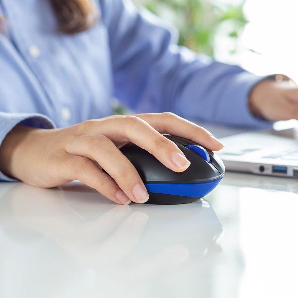 ワイヤレス マウス エルゴノミクス 疲労軽減 小型 コンパクト 4ボタン(即納)|sanwadirect|15