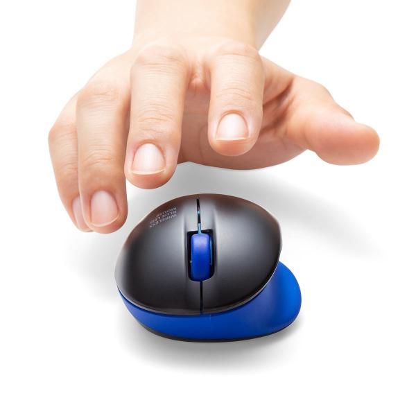 ワイヤレス マウス エルゴノミクス 疲労軽減 小型 コンパクト 4ボタン(即納)|sanwadirect|19