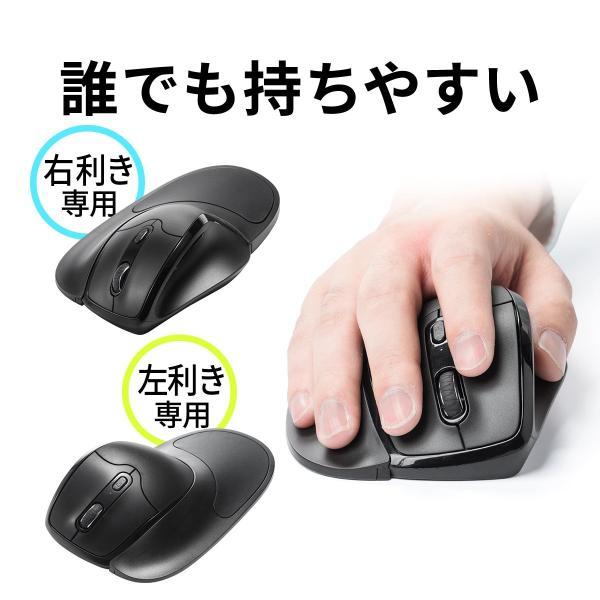 エルゴマウス 左利き ワイヤレス マウス 無線 腱鞘炎 予防 疲れにくい エルゴノミクス(即納)|sanwadirect