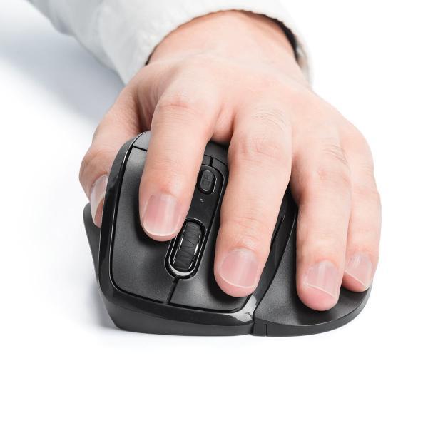 エルゴマウス 左利き ワイヤレス マウス 無線 腱鞘炎 予防 疲れにくい エルゴノミクス(即納)|sanwadirect|15