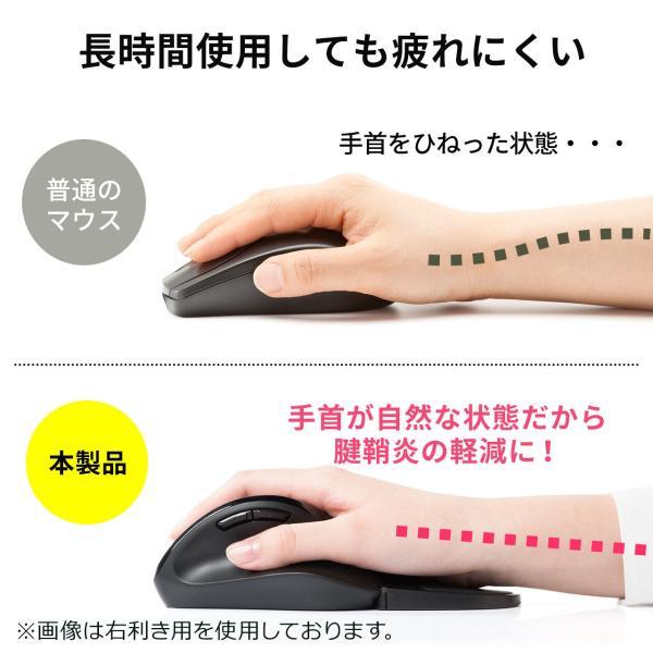 エルゴマウス 左利き ワイヤレス マウス 無線 腱鞘炎 予防 疲れにくい エルゴノミクス(即納)|sanwadirect|05