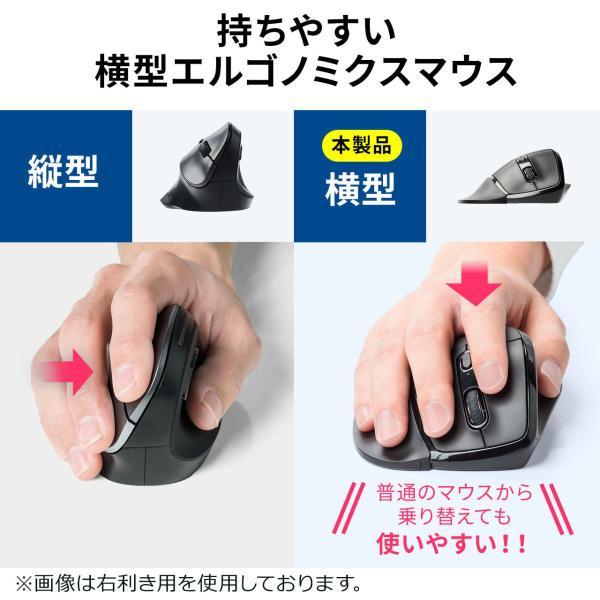 エルゴマウス 左利き ワイヤレス マウス 無線 腱鞘炎 予防 疲れにくい エルゴノミクス(即納)|sanwadirect|06