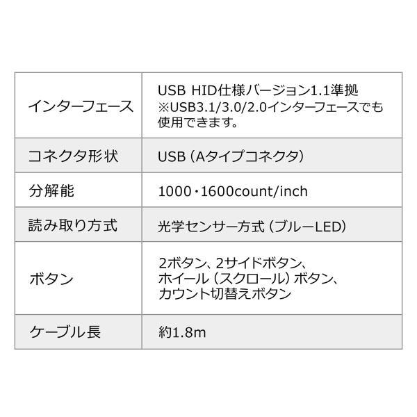 エルゴノミクスマウス 有線 エルゴマウス 6ボタン(即納)|sanwadirect|12