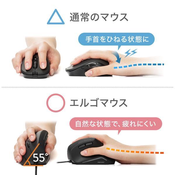 エルゴノミクスマウス 有線 エルゴマウス 6ボタン(即納)|sanwadirect|03