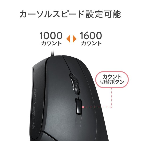 エルゴノミクスマウス 有線 エルゴマウス 6ボタン(即納)|sanwadirect|08