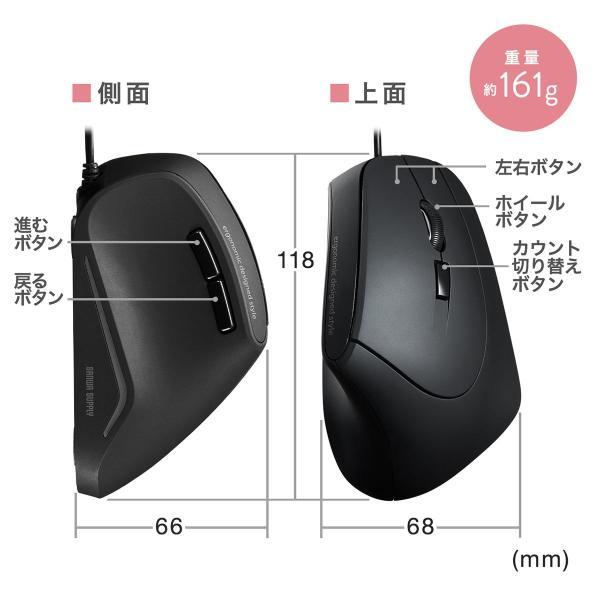 エルゴノミクスマウス 有線 エルゴマウス 6ボタン(即納)|sanwadirect|10